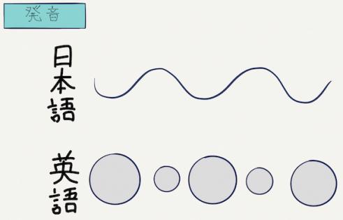 英語と日本語の発音の違い